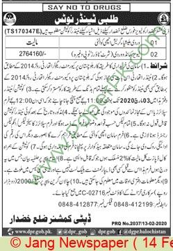 Deputy Commissioner Division Khudar Tender Notice