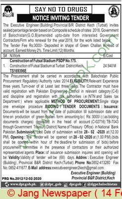 Provincial B & R Division Kech Tender Notice(1)