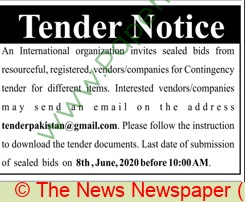 International Organization Islamabad Tender Notice