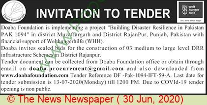 Doaba Foundation Rajanpur Tender Notice