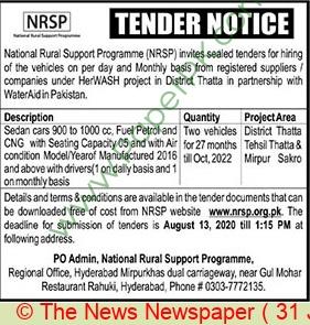 Nrsp Hyderabad Tender Notice