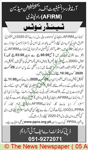 Afirm Rawalpindi Tender Notice