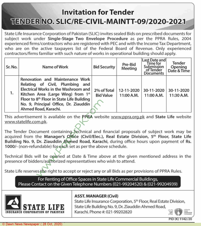 State Life Insurance Corporation Of Pakistan Karachi ...