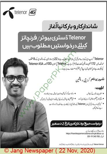 Telenor Karachi Tender Notice