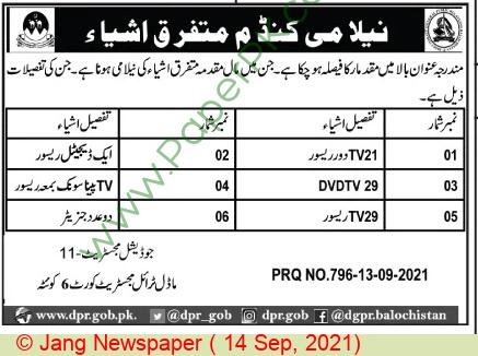 Pakistan Based Company Quetta Auction Notice