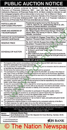 Js Bank Islamabad Auction Notice