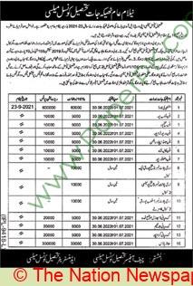 Tehsil Council Melsi Auction Notice