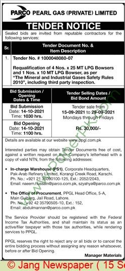 Parco Karachi Tender Notice (4)